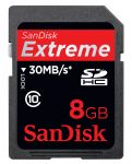 8GB Extreme® HD Video SDHC 30 mb/s