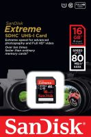SDHC 16GB Extreme® 80MB/s...
