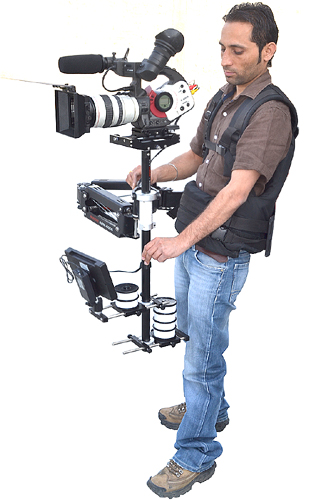 FlyCam 6000 Stabilization System with Magic Arm & Vest - BONUS Low Mode Cage