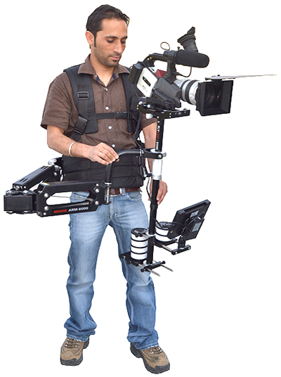 FlyCam 6000 Stabilization System with Magic Arm and Vest & 7