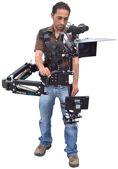 FlyCam 6000 with PROAIM 7000 Reverse Arm & DV Operator Vest