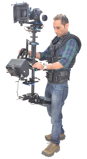 FlyCam Suavizar Stabilization System - Flycam and Arm with DV Operator Vest for cameras weighing up to 10 lbs