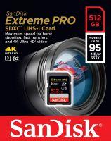 SanDisk SDXC 512GB Extreme Pro 95Mb/s 4K (SDSDXXG-512G)