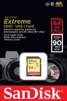 SanDisk SDXC 64GB Extreme 90MB/s  4Kvideo