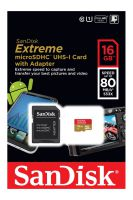 SanDisk Micro SDHC 16GB Extreme 80MB/s UHS-I