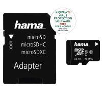Hama Micro SD 64GB 22Mb/s