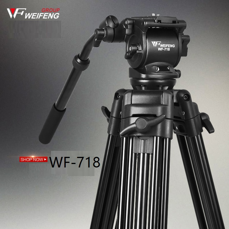 Weifeng WF718 Professional Video Tripod Camera Tripod w/ Fluid Head