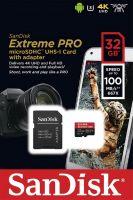 SanDisk Micro SDHC 32GB Extreme PRO 100MB/s 667x 3U 4K