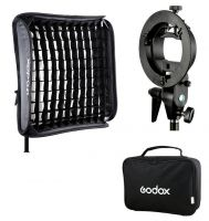 Godox Handy Speedlite Soft Box SFGV-G8080 S type bracket Kit with grid (Bowens mount)