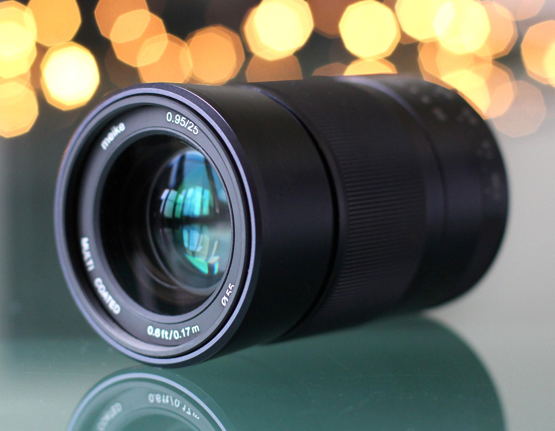 Meike Meike 25mm f/0.95 objektiv za sony e i fuji fx