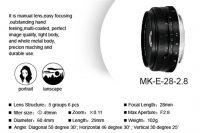 Meike Meike 28mm f2,8 za E-mount i Fuji FX