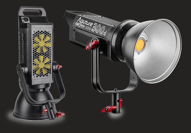 Aputure LS C300D COB light kit sa V mount adapterom