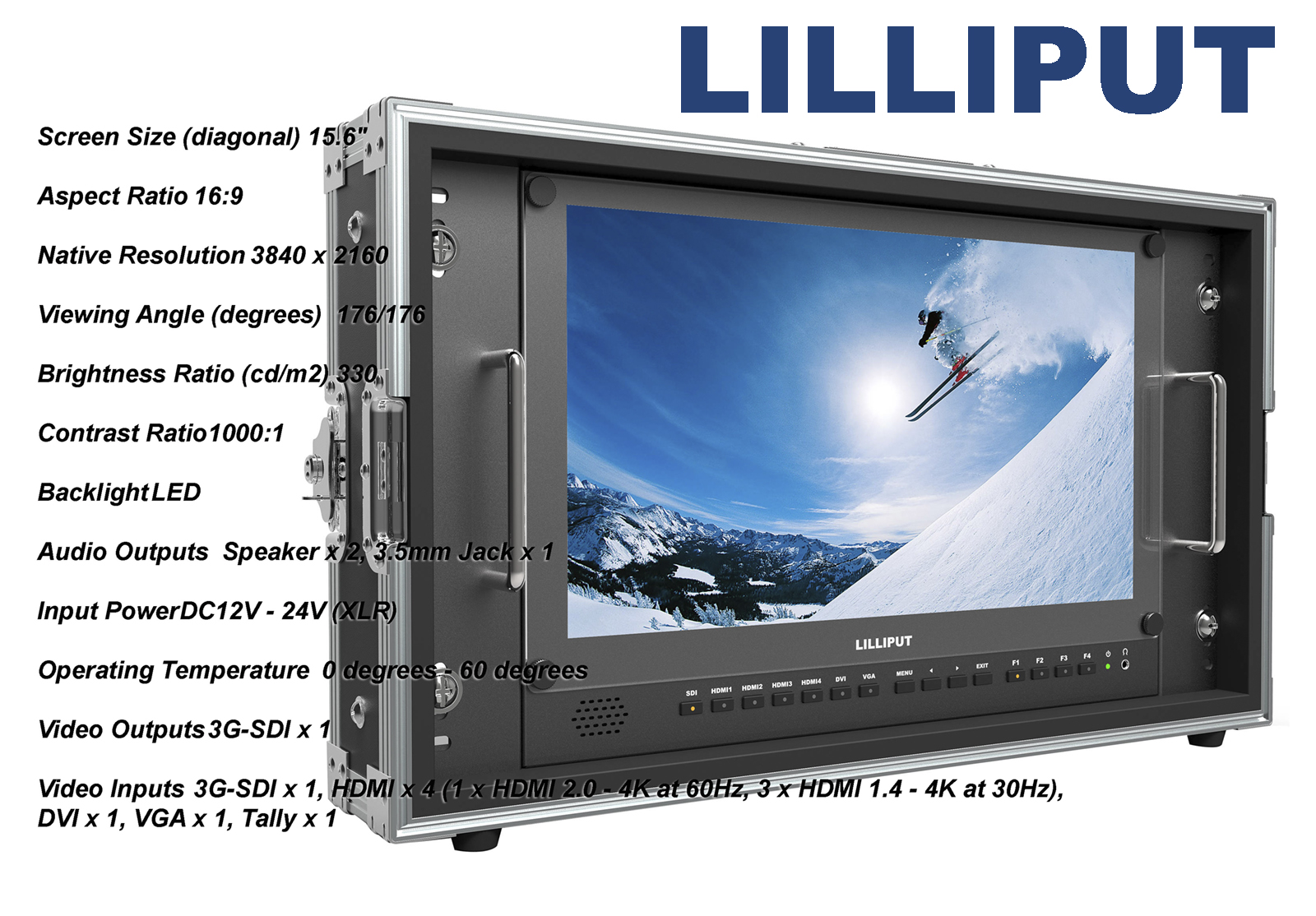 Lilliput BM150-4K Carry-On 4K Monitor (V-Mount)