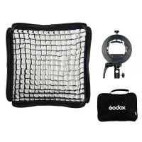 Godox Handy Speedlite Soft Box SGGV6060 S2 type bracket Kit with grid (Bowens mount)