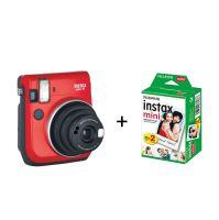Fujifilm Instax Mini 70 (Passion Red) + Film za 20 fotografija